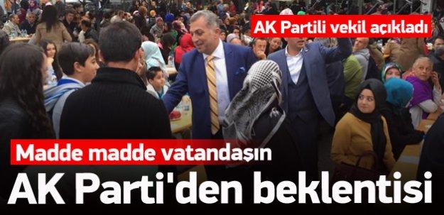 Madde madde vatandaşın AK Parti'den beklentisi