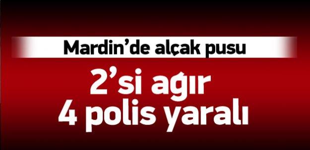Mardin'de mayınlı saldırı: 2'si ağır 4 yaralı
