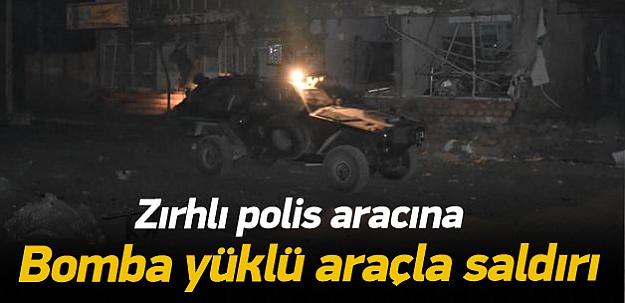 Mardin'de polis aracına bombalı saldırı