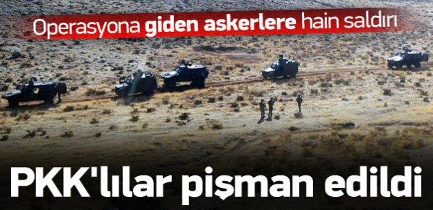 Operasyona giden askerlere hain saldırı
