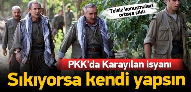 PKK'da Karayılan isyanı: Sıkıyorsa...
