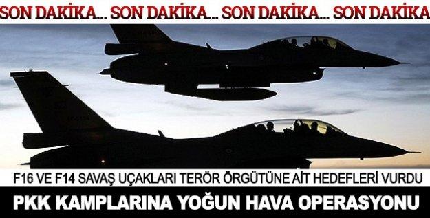 PKK kamplarına hava operasyonu başlatıldı