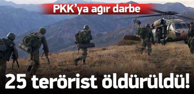 PKK'lı teröristlere ağır darbe!