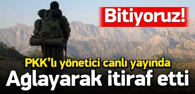 PKK'lı yayında ağlayarak itiraf etti: Bitiyoruz!