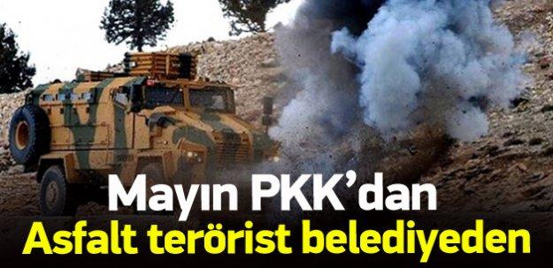 PKK mayınına belediye asfaltı