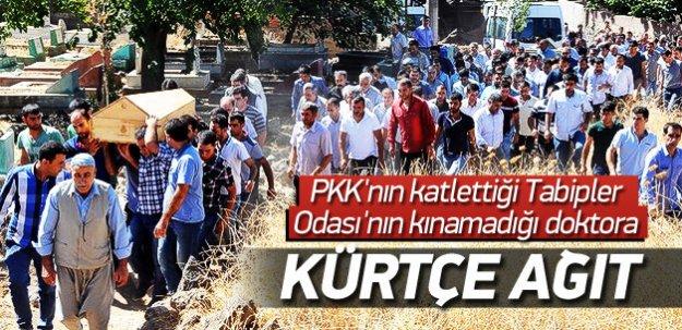 PKK'nın katlettiği doktora Kürtçe ağıtlarla veda