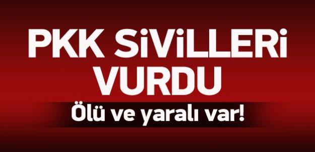 PKK sivilleri vurdu: 1 ölü, 1 yaralı