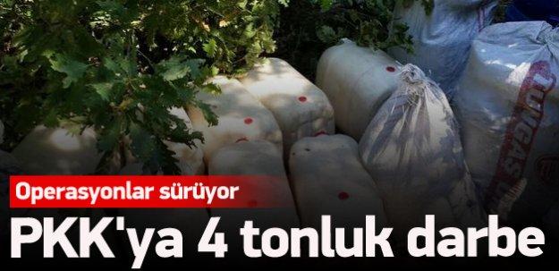 PKK'ya 4 tonluk darbe
