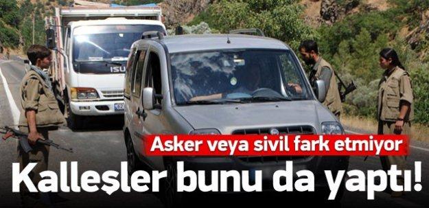 PKK yol kesip sivilleri taradı!
