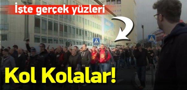 PKK'lılarla Neo-Naziler kol kola yürüdü