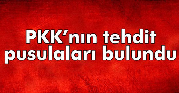 PKK'nın tehdit pusulaları bulundu