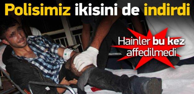 Polis iki kişiyi bacağından vurdu