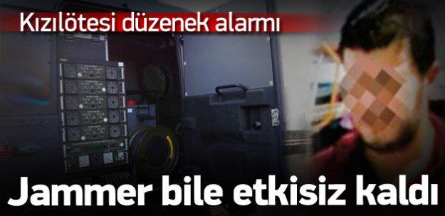 Polisi alarma geçiren kızılötesi düzenek!