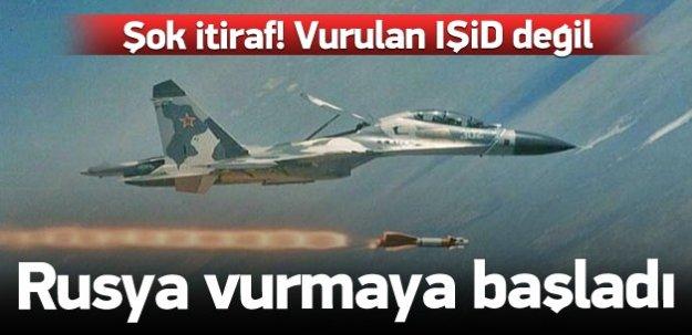 Rus uçakları Suriye'de vurmaya başladı!