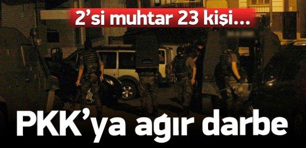 Şanlıurfa'da terör örgütü operasyonu: 23 gözaltı