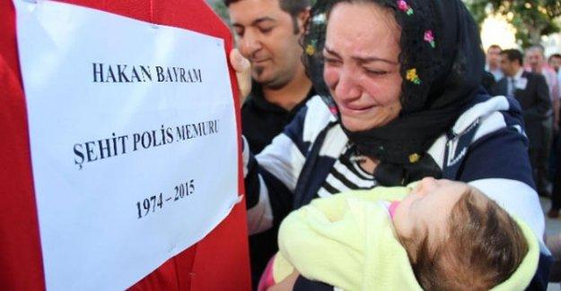 Şehit polis Kayseri'de son yolculuğuna uğurlandı