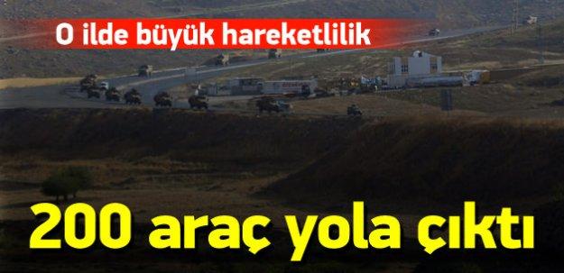 Şırnak'a 200 araçlık büyük askeri sevkiyat