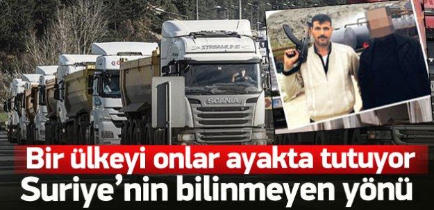 Suriye'de yaşamı, kamyoncular ayakta tutuyor