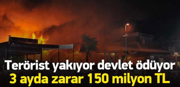 Terörist saldırının maliyeti 150 milyon TL
