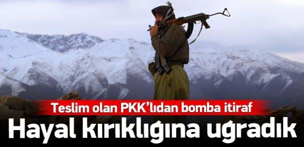 Teslim olan PKK'lı terörist itiraf etti
