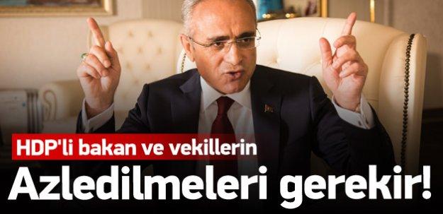 Topçu: HDP'li bakan ve vekiller azledilmeli