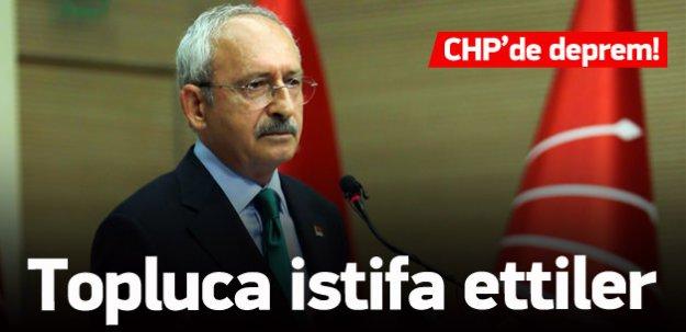Topluca CHP'den istifa ettiler