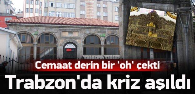 Trabzonlu cemaat derin bir 'oh' çekti