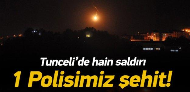 Tunceli'de hain saldırı: 1 polis şehit