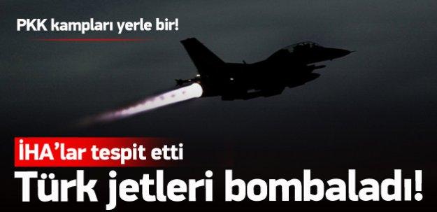 Türk jetleri yine bombaladı