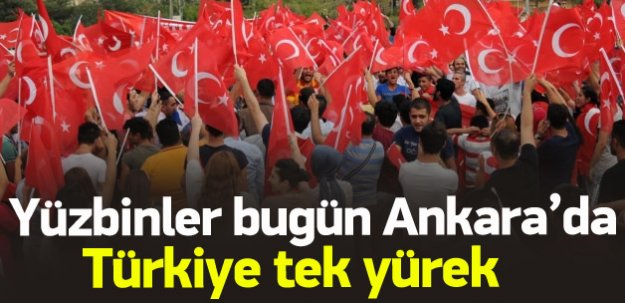 Türkiye teröre karşı yürüyor