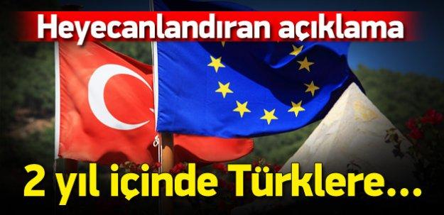 """""""Türklere 2 yıl sonra vize serbestisi mümkün"""""""