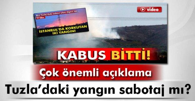 Tuzla'daki yangın sabotaj mı?