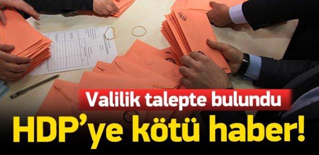 Valilik oy sandıklarının taşınmasını istedi