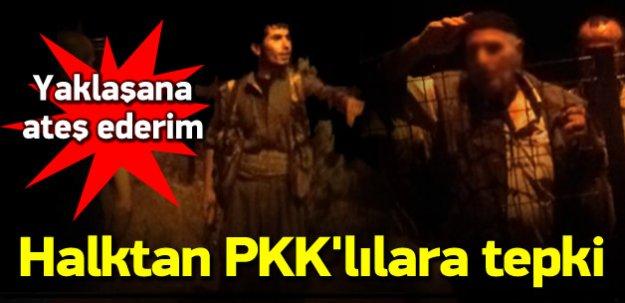 Yol kesen PKK'lılara vatandaştan sert tepki