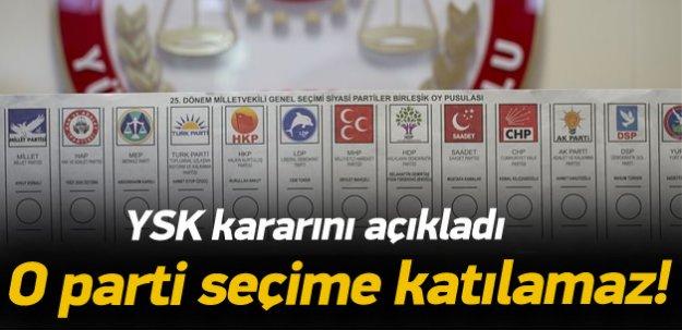 YSK'dan TURK Parti kararı!