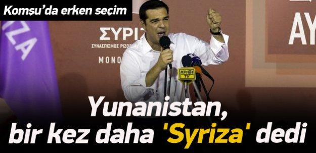 Yunanistan, bir kez daha 'Syriza' dedi