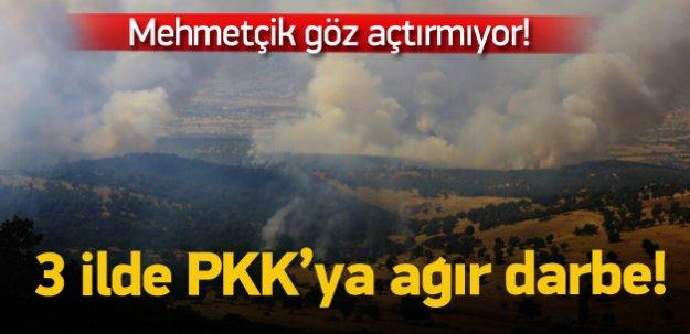 3 ilde PKK'ya ağır darbe!
