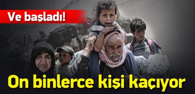 50 bin mülteci Türkiye yolunda