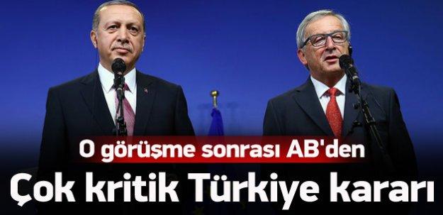 AB'den çok kritik 'Türkiye' kararı