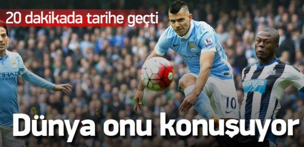 Aguero çıldırdı! Manchester City fark attı