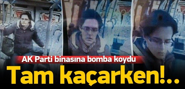 AK Parti binasına bomba yerleştiren terörist