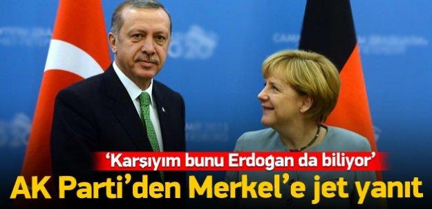 AK Parti'den Merkel'e jet yanıt