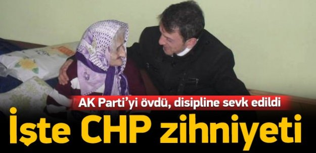 Ak Parti'yi öven CHP'li disipline sevk edildi