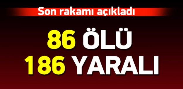 Ankara'da 2 ayrı patlama: 86 ölü, 186 yaralı