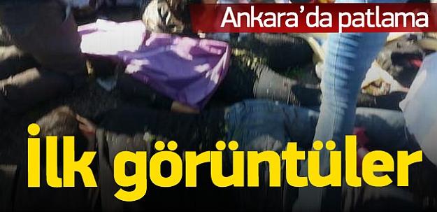 Ankara'da 2 ayrı patlama: En az 20 ölü var