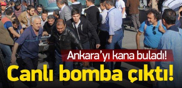 Ankara'daki patlamadan biri canlı bomba çıktı!