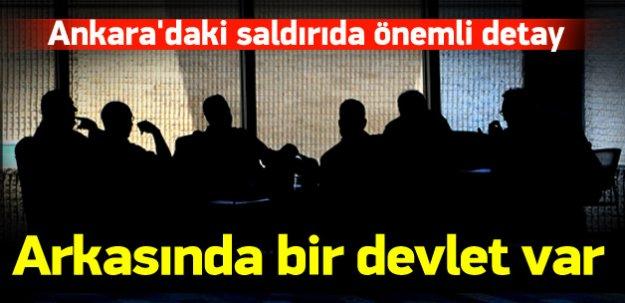 Ankara'daki saldırıda bir devletin desteği var