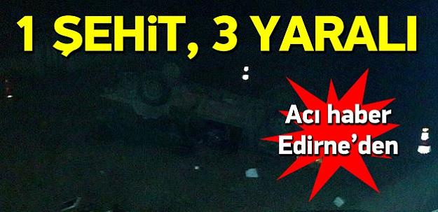 Askeri araç devrildi: 1 şehit, 3 yaralı