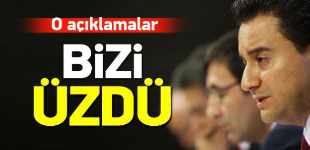 Babacan: Kılıçdaroğlu'nun açıklamaları bizi üzdü