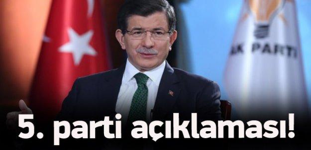 Başbakan Davutoğlu'ndan 5. parti açıklaması